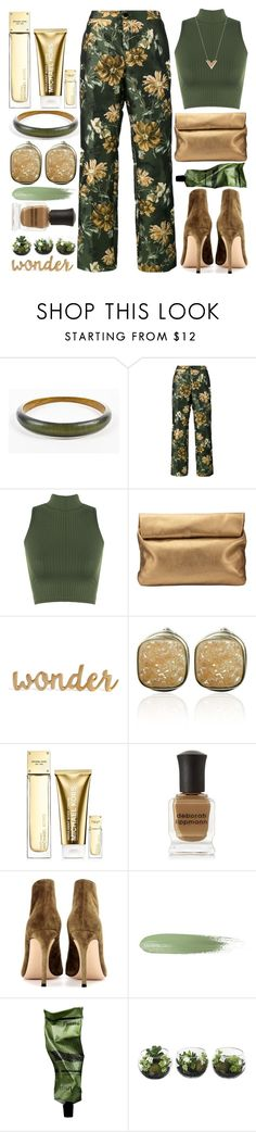 """Floral Pants"" by grozdana-v ❤ liked on Polyvore featuring Alexis Bittar, F.R.S For Restless Sleepers, WearAll, Jigsaw, Michael Kors, Deborah Lippmann, Gianvito Rossi, Aesop and Louis Vuitton"