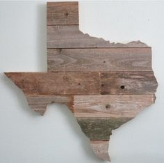 Reclaimed Wood Texas Wall Art 24 by wayneworks on Etsy, $45.00