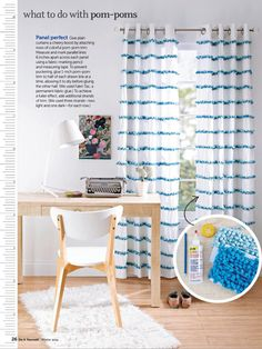 Curtains for kids rooms. DIY magazine