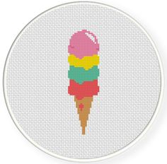 Charts Club Members Only: Scoops Cross Stitch Pattern