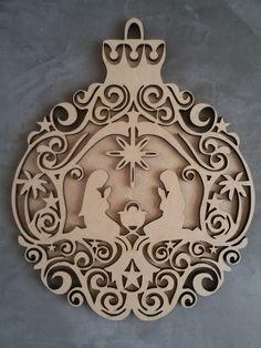 Enfeite de porta Presépio de Natal, em MDF 6mm + fundo 3mm, cortado a laser, ótimo acabamento pronto para ser decorado.