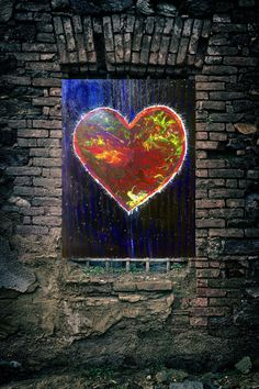 Heart in love. 2018. Mixed media (oil, acrylic, glitter) on canvas.  Paintings potpourri - Zazulete