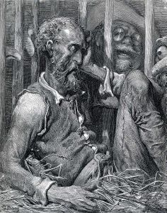 The Enchantment of Don Quixote (c. 1868) by Gustave Dore. Illustration for Cervantes's Don Quixote.