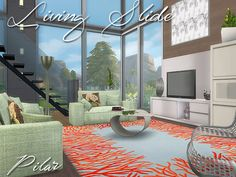 Current Elegance, straight lines and sober  Found in TSR Category 'Sims 4 Living Room Sets'