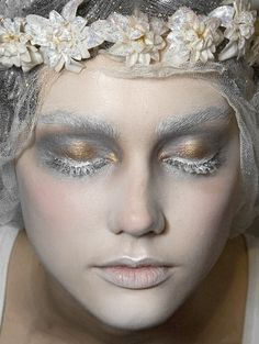 "blvck-voodooism: "" lamorbidezza: "" Make-up at John Galliano Fall 2009 "" "" Galliano is a god"