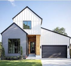 Ultra Modern Homes: Modern Contemporary House Plans Ultra Modern Homes, Modern Contemporary Homes, Farmhouse Contemporary, Modern Farmhouse Exterior, Farmhouse Style, Modern House Design, Home Fashion, Exterior Design, Exterior House Colors