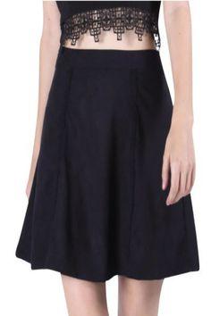 Black Suede Skirt.