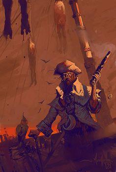 Blood Pirate, John Mueller on ArtStation at https://www.artstation.com/artwork/D5n3A
