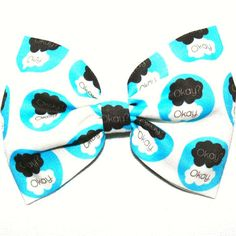 The Fault In Our Stars TFIOS Book Reading Movie Coffee Okay Pattern Print Hair Bow Bows Accessories Accessory For Women Girls Teens Fans Of on Etsy, $7.00