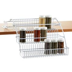 Pull Out Spice Rack - Rubbermaid Pull-Down Spice Rack | The Container Store