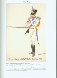 The Confederation of the Rhine - Cleves - Berg: Plate Line Infantry Regiment, Fusilier Private, 1812 Empire, Kingdom Of Naples, War Of 1812, French Revolution, Napoleonic Wars, Military History, Warfare, First World, World War