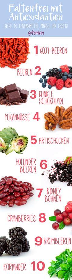 Faltenfrei durch Essen? Mit diesen Lebensmittel voller Antioxidantien klappt's!  Mehr auf gofeminin.de