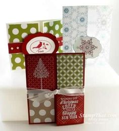 Fancy Folds Stampin' Up! Christmas Card Class - Stewartstown, PA
