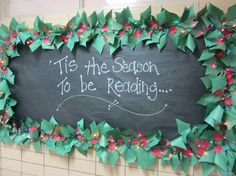 Christmas Accents We Love! Border Designs For Bulletin Boards Christmas Bulletin Boards, Bulletin Board Borders, Reading Bulletin Boards, Winter Bulletin Boards, Classroom Bulletin Boards, Classroom Decor, Winter Bulliten Board Ideas, Christmas Bullentin Board Ideas, Classroom Christmas Decor