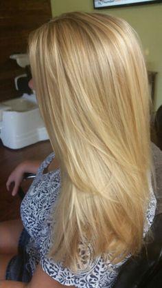 Golden blonde hair More