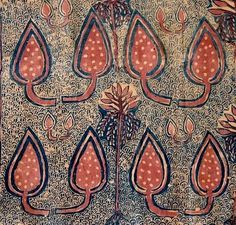 17th century, dyed, handspun, cotton india, indian textile, pattern, patterned, fabric, woven