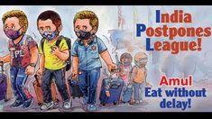 Amul's viral meme on IPL 2021 suspension will leave you in splits - Provided by Zee News Advertising Strategies, Register Online, Live Tv, Premier League, Laughter, Memes, Meme