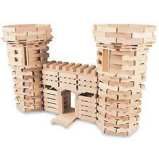 400 Piece Wooden Plank Building Set - 100% Maple