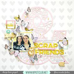 Scrap Friends layout  Project Life   Flora Monika Farkas