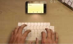 Keyboard projected out of an iPhone?! That would be awesome!
