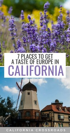 Miss international traveling and longing for some US cities that look like Europe? These cute towns in California will give you just that! From Danish vibes in Solvang to lavendar farms that feel like Provence in SoCal and Sonoma to waterfalls that look straight out of Croatia to hot springs and black sand beaches that scream Iceland and Tenerife -- here are 7 places to visit in California that feel like Europe... at least a little bit! California Places To Visit, California Travel Guide, Usa Travel Guide, Cool Places To Visit, Travel Usa, Travel Guides, Travel Tips, 7 Places, Places To Travel