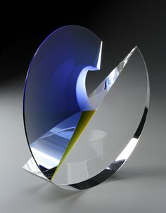 :: HABATAT GALLERIES :: Florida Artist: Martin Rosol, Title: Calla, Dimensions: 13.5 x 13 x 4 in., glass sculpture