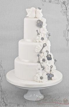 Love Bird Wedding Cake Cake by littlecherry. Love it locks & keys