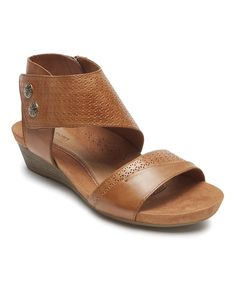 1290373ba8badf Show off your pedicure in this luxe leather pair of sandals featuring a  comfortable foam footbed