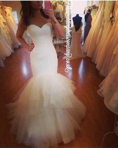enzoani blue 'ivan' 2016 tulle wedding dress- such a beautiful silhouette