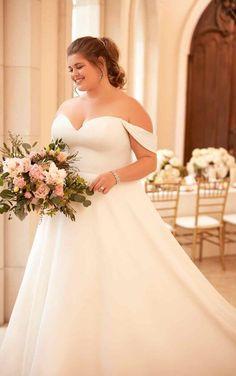 69b9a8e72b Courtesy of Stella York wedding dresses; 6718+ Simple Satin Plus-Size  Wedding Dress