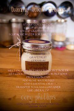 Tummy Tuck Cream (Sub carnuba wax, candelilla wax or even shea butter for the beeswax.)