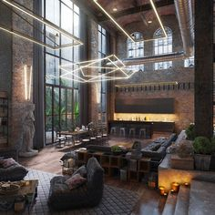"11.9k Likes, 66 Comments - ᴀ ʀ ᴛ s ʏ ᴛ ᴇ ᴄ ᴛ ᴜ ʀ ᴇ. (@artsytecture) on Instagram: ""Industrial Loft. By Morat Morat Designer  #artsytecture _______ Welcome to the page @artsytecture…"""