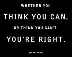 Mind over body.