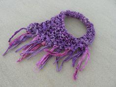 Sari Silk Hand Knitted Necklace