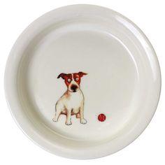 Dog Feeding Bowl  Stylish pet bowls with a fun illustration on the base of each bowl. Superior quality fine china.