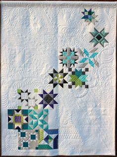 Pinwheel Galaxy Quilt by Maxie Makes