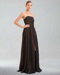 Akris Trapezoid Laser-Cut Tulle Apron Gown