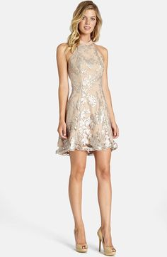 Dress the Population Dress the Population 'Abbie' Sequin Fit & Flare Dress available at #Nordstrom