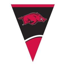 Creative Converting University of Arkansas Plastic Flag Banner 105Feet *** For more information, visit image link.