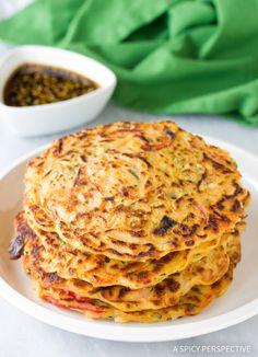 Best Korean Pancakes - Pajun (Pajeon) Recipe #vegetarian