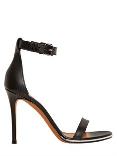e5596d85c75f3 GIVENCHY - 100MM NADIA LEATHER SANDALS - LUISAVIAROMA - LUXURY SHOPPING  WORLDWIDE SHIPPING - FLORENCE Girl