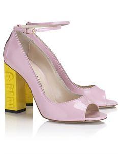 Pink Patent Leather Pez Heels Camila Elphick