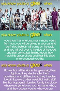 You know you're a gleek when