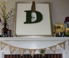 March Mantel Madness  and a Moss Letter Teach Love Craft