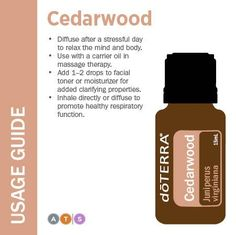 doTERRA Cedarwood Usage Guide, available at https://mydopro.com/shop/alexia.naturalsolutionspro.com/product/cedarwood-essential-oil-15ml/