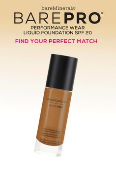 BAREPRO® Performance Wear Liquid Foundation in 30 shades. Find your perfect match.