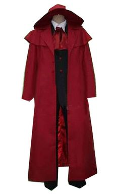 FOCUS-COSTUME Hellsing Alucard Red Suit Cosplay Costume >>> Read more  at the image link.