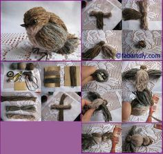 Dit is hoe je schattige wol vogels moet maken! - Welbewust leven