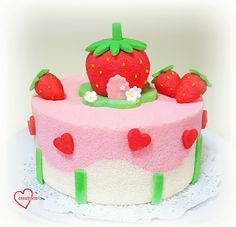 Loving Creations for You: Strawberry Shortcake-inspired Strawberry Yoghurt-V...