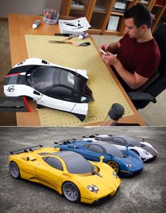 Impressively realistic papercraft cars by Taras Lesko, as featured on Core77.